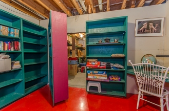 Secret room behind bookcase
