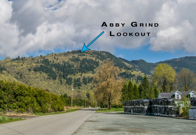 View of Abby Grind from McDermott Road