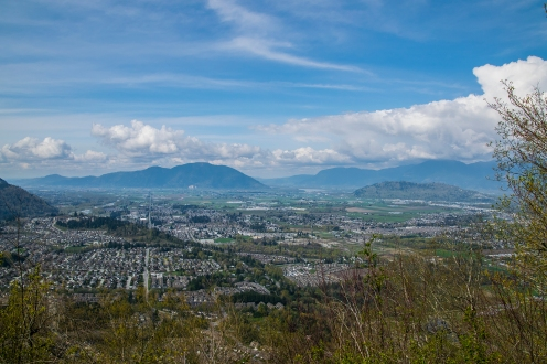 Looking towards the Fraser River way in the background.