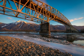 Agassiz Bridge with Mt. Cheam in the background