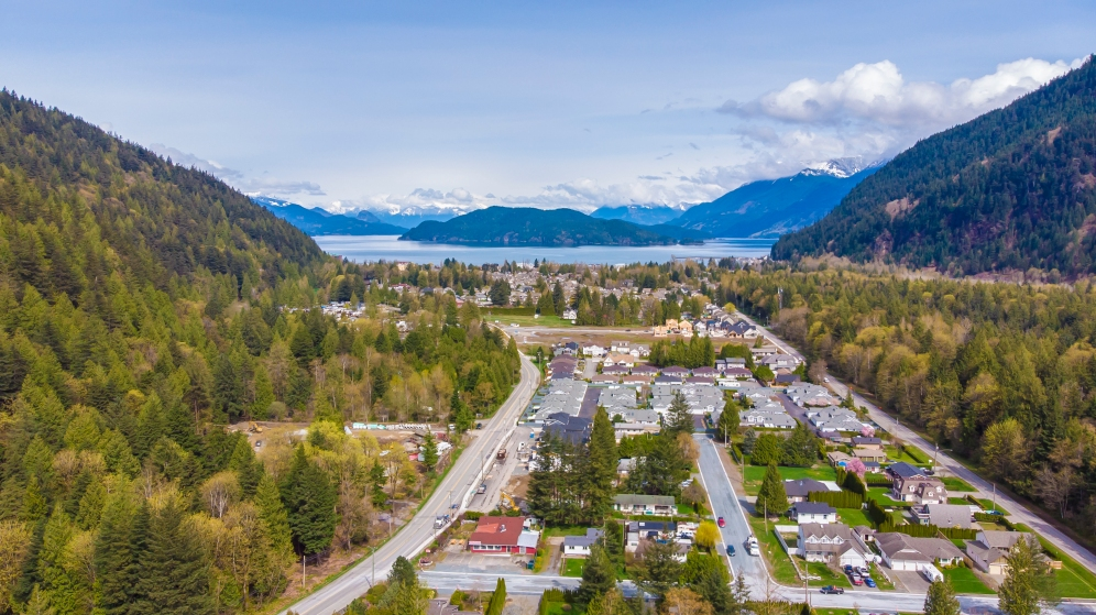 Harrison Hot Springs from DJI Drone